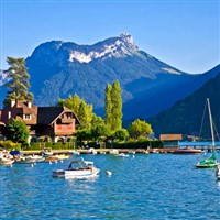 French Alps and Lake Annecy